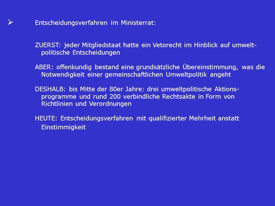 Ø Entscheidungsverfahren im Ministerrat: