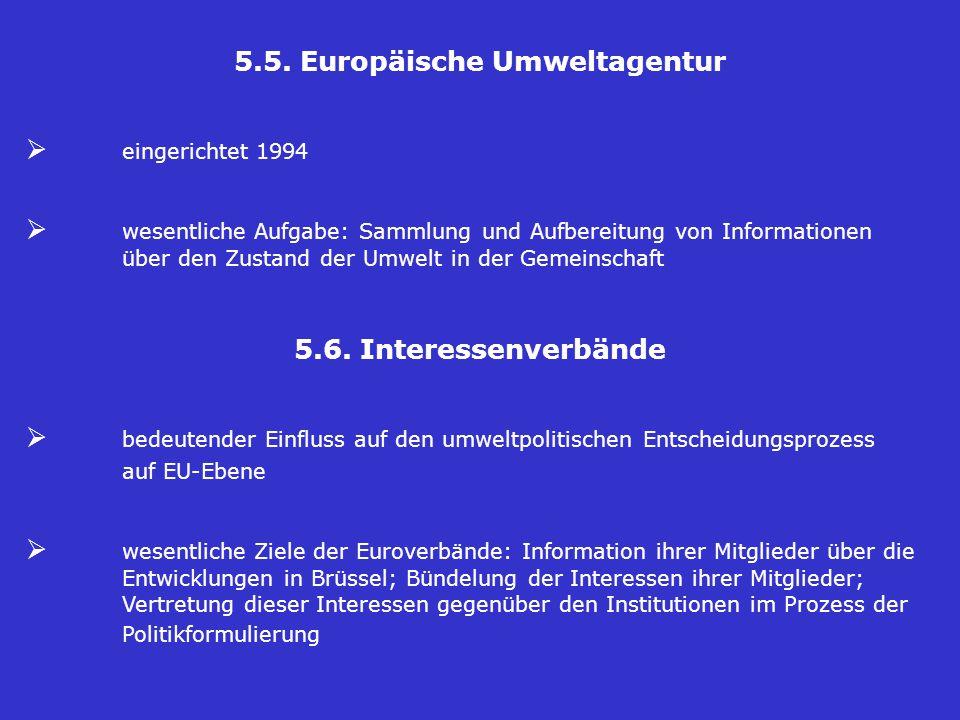 5.5. Europäische Umweltagentur