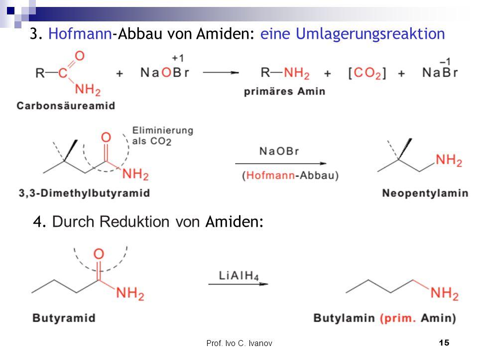 3. Hofmann-Abbau von Amiden: eine Umlagerungsreaktion