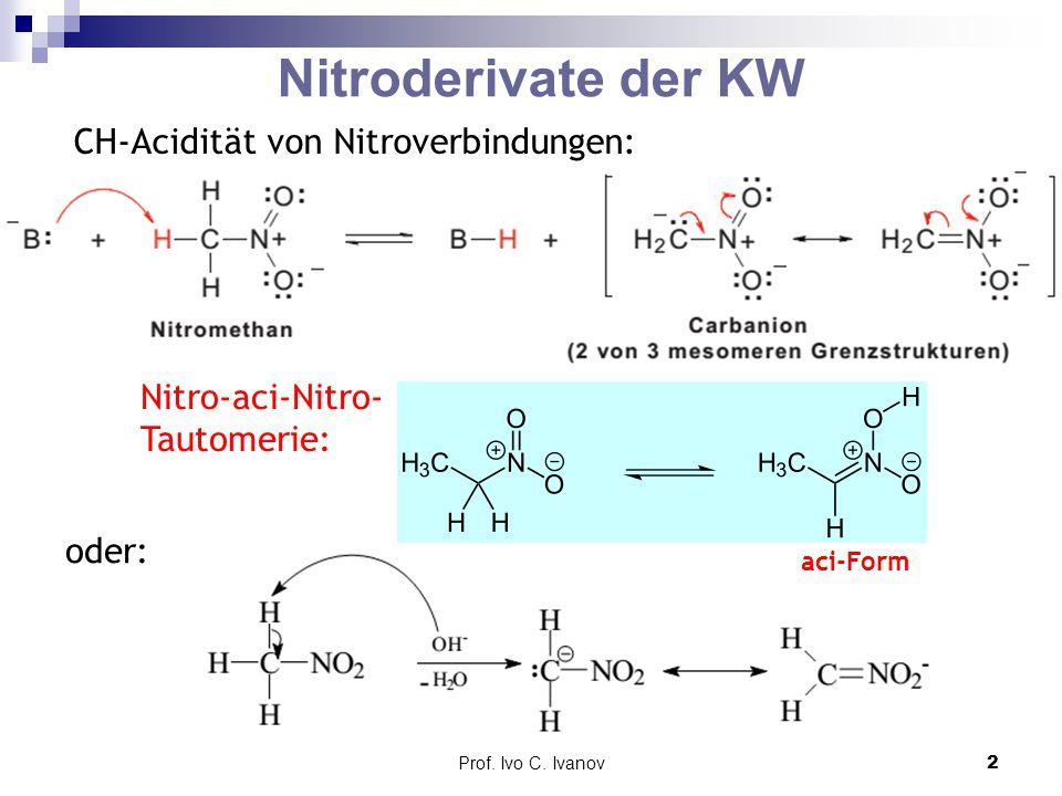 Nitroderivate der KW CH-Acidität von Nitroverbindungen: