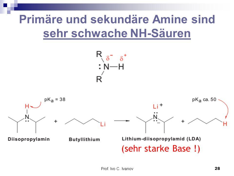 Primäre und sekundäre Amine sind sehr schwache NH-Säuren