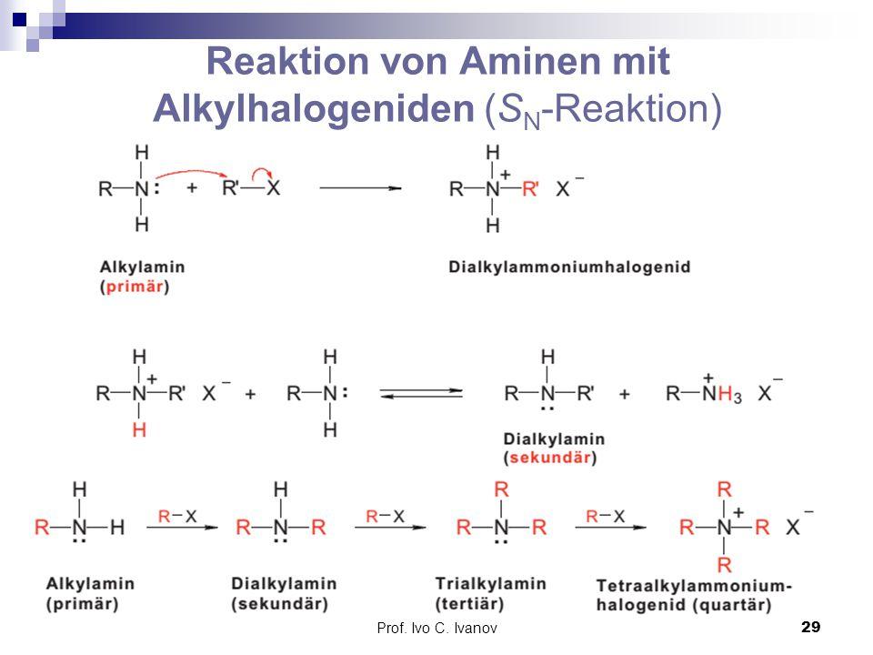 Reaktion von Aminen mit Alkylhalogeniden (SN-Reaktion)