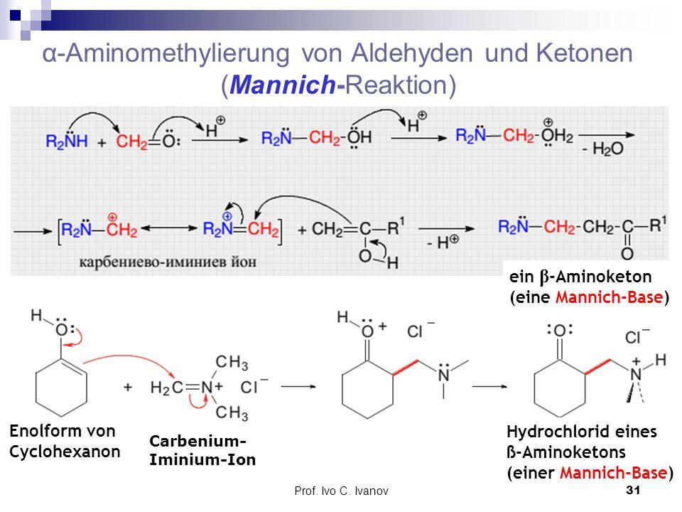α-Aminomethylierung von Aldehyden und Ketonen (Mannich-Reaktion)