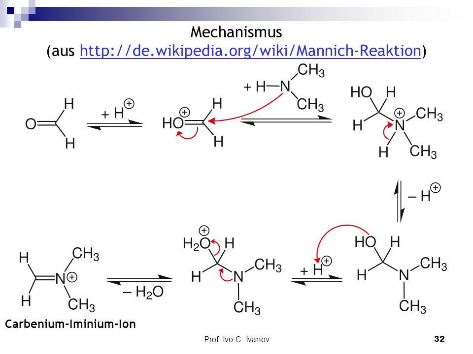 Mechanismus (aus http://de.wikipedia.org/wiki/Mannich-Reaktion)