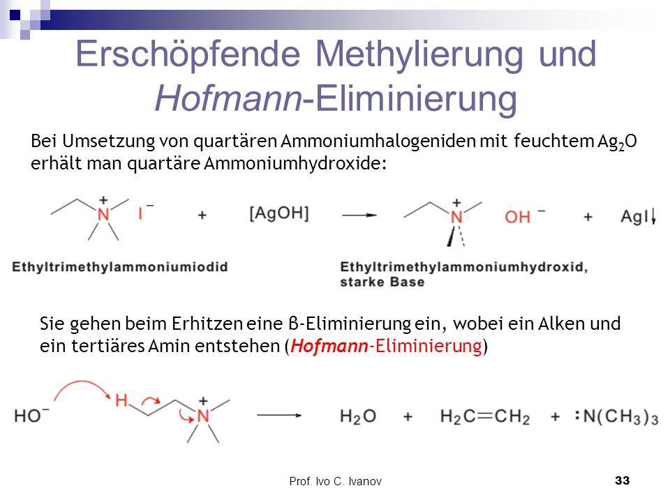 Erschöpfende Methylierung und Hofmann-Eliminierung