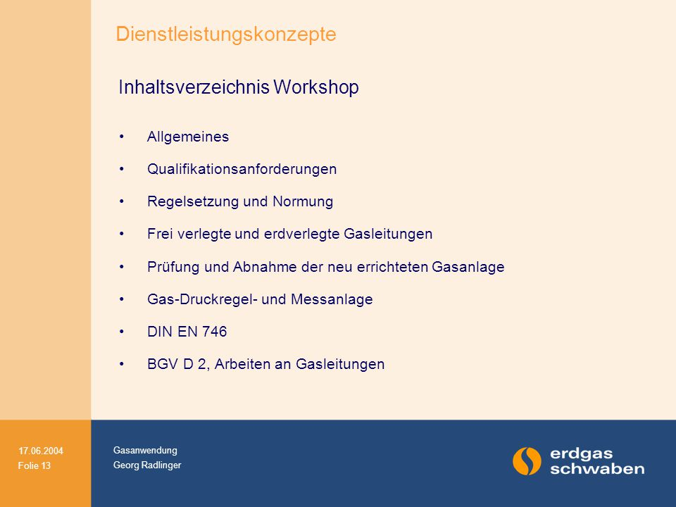 Inhaltsverzeichnis Workshop