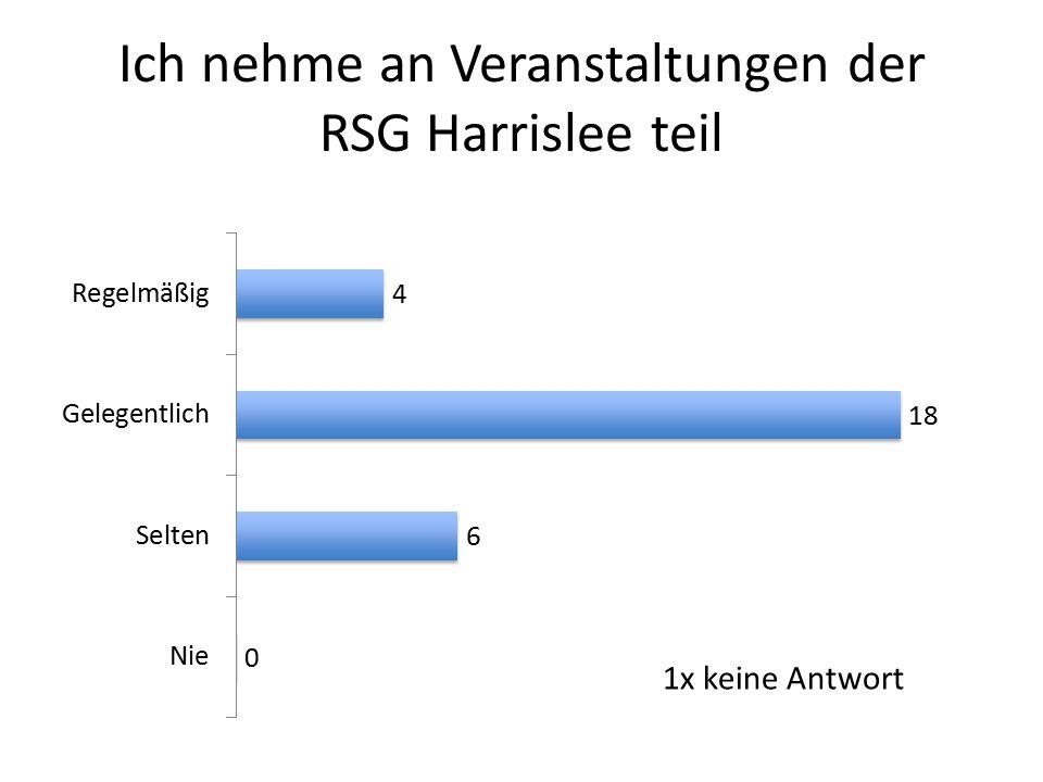 Ich nehme an Veranstaltungen der RSG Harrislee teil