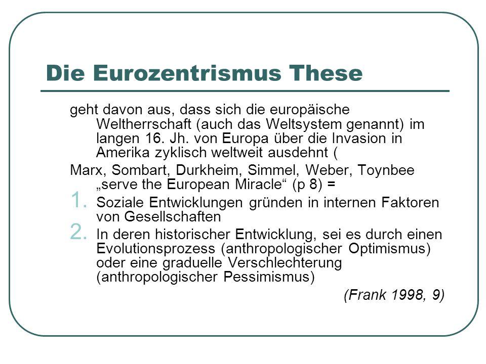 Die Eurozentrismus These