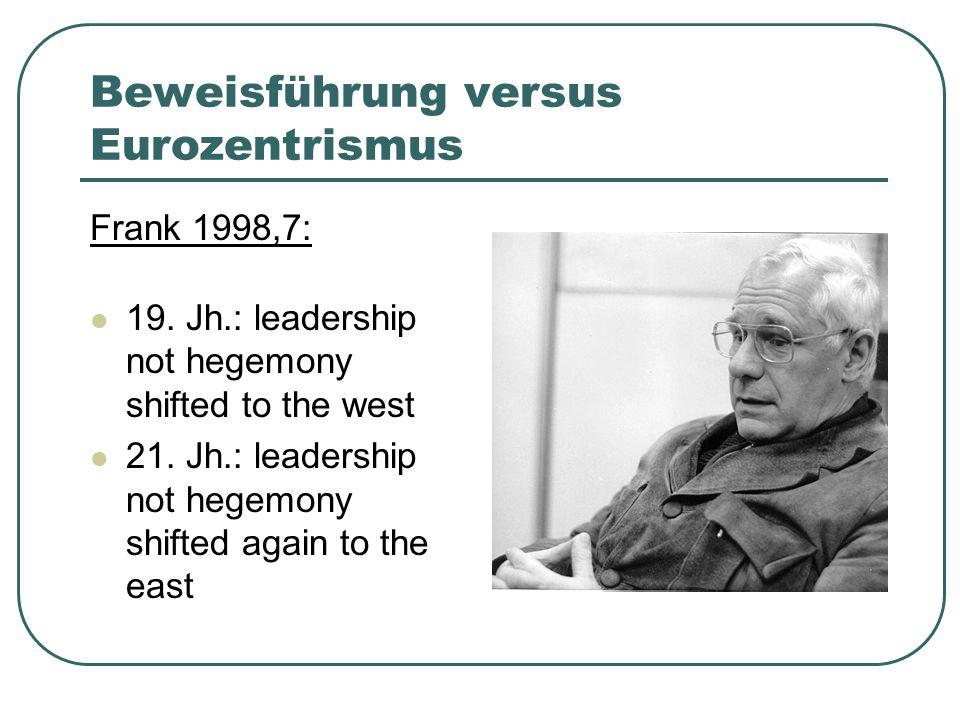 Beweisführung versus Eurozentrismus