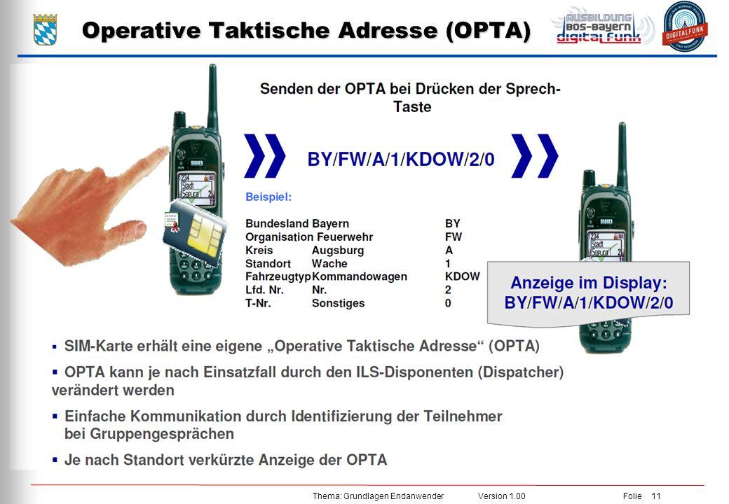Operative Taktische Adresse (OPTA)