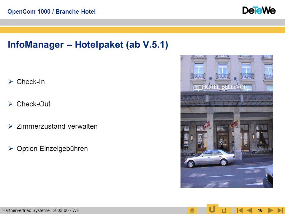 InfoManager – Hotelpaket (ab V.5.1)