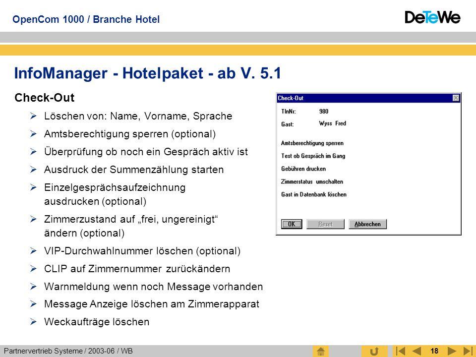 InfoManager - Hotelpaket - ab V. 5.1