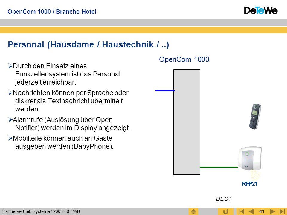 Personal (Hausdame / Haustechnik / ..)