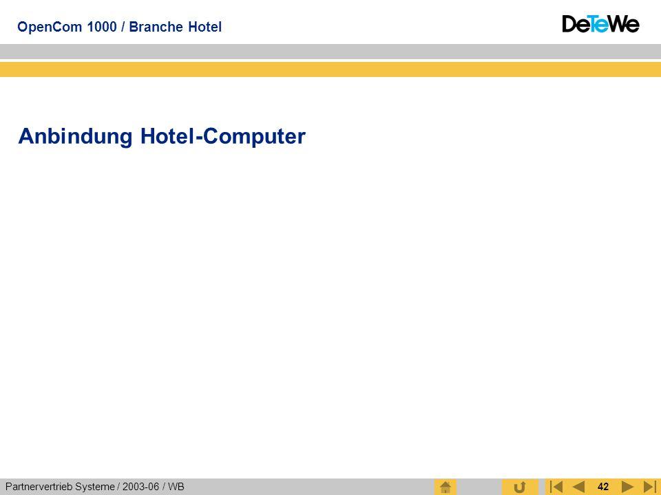 Anbindung Hotel-Computer