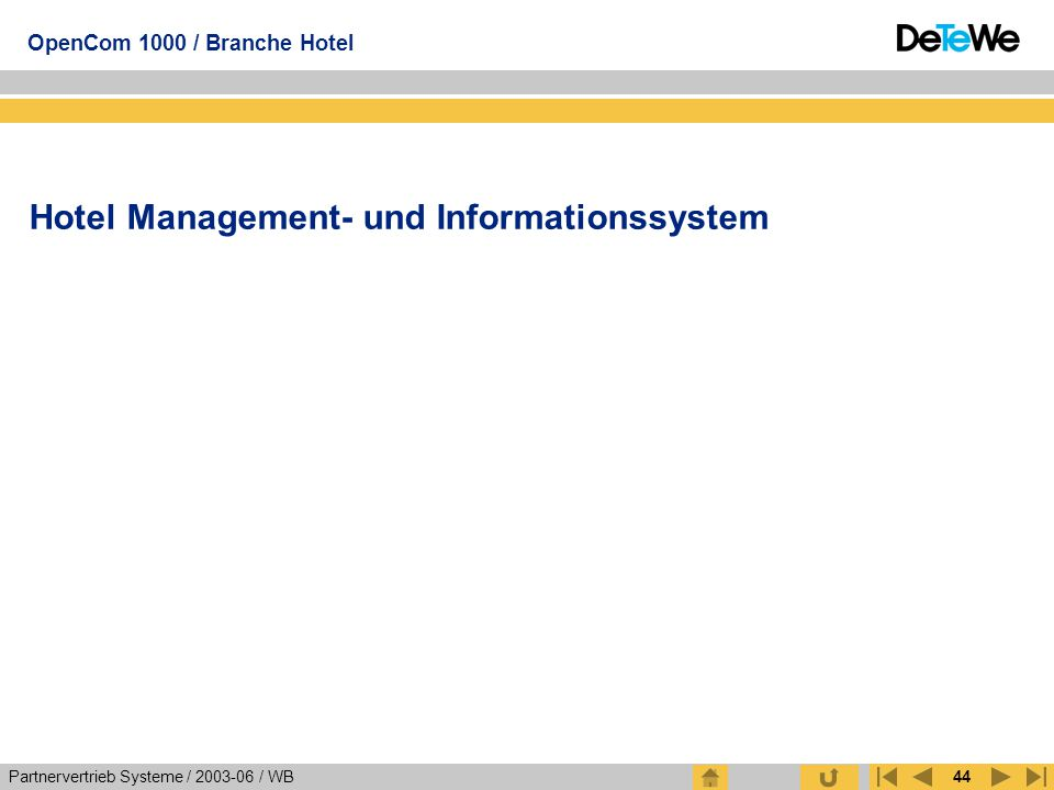 Hotel Management- und Informationssystem