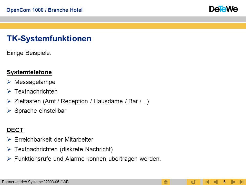 TK-Systemfunktionen Einige Beispiele: Systemtelefone Messagelampe