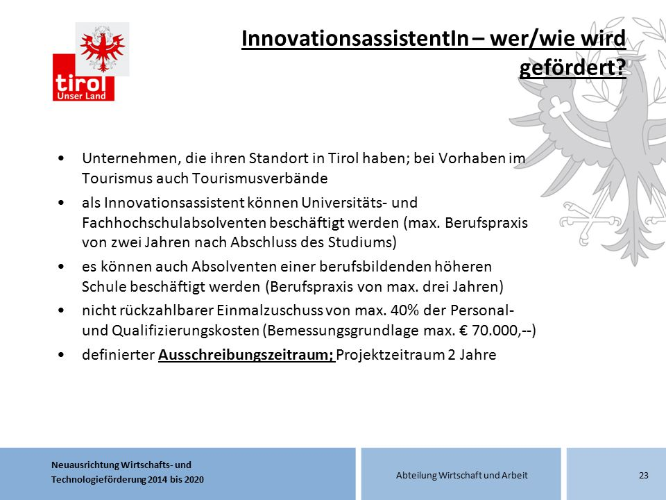InnovationsassistentIn – wer/wie wird gefördert