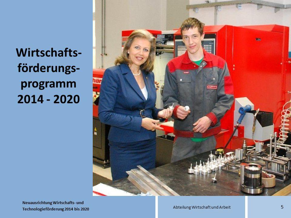 Wirtschafts-förderungs-programm 2014 - 2020