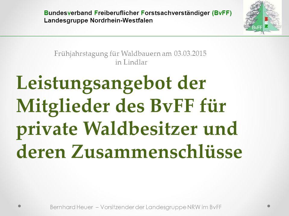 Frühjahrstagung für Waldbauern am 03.03.2015