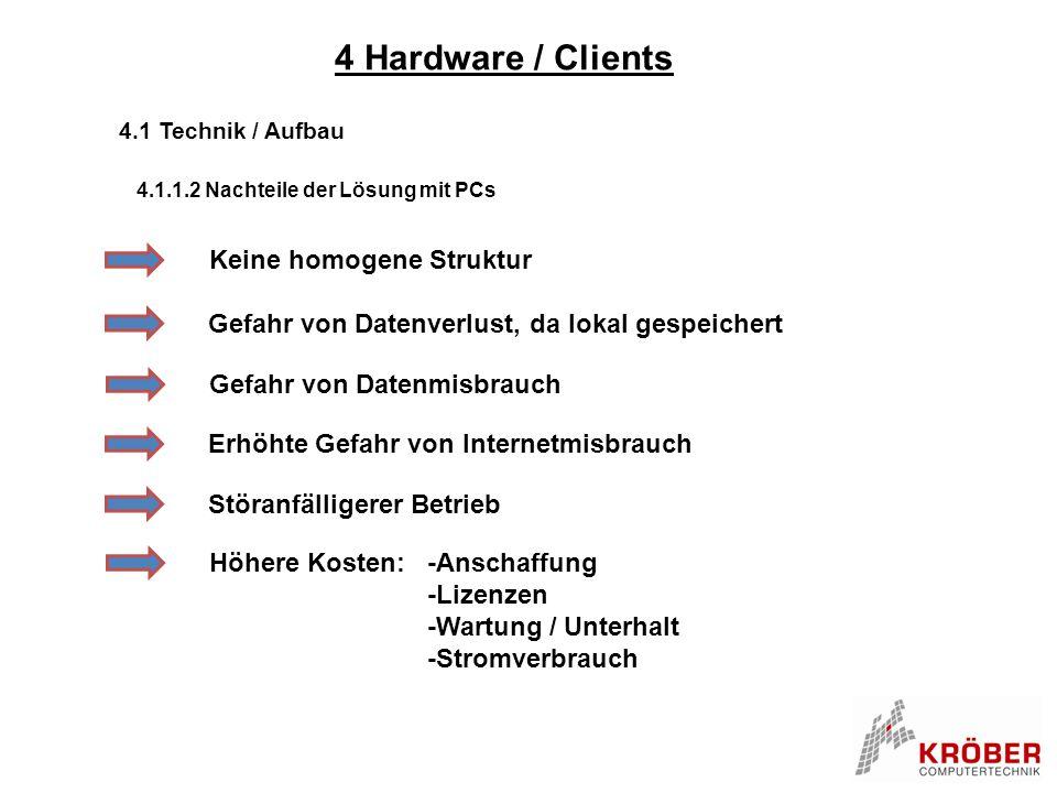 4 Hardware / Clients Keine homogene Struktur