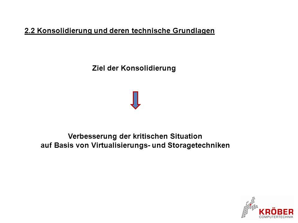 2.2 Konsolidierung und deren technische Grundlagen