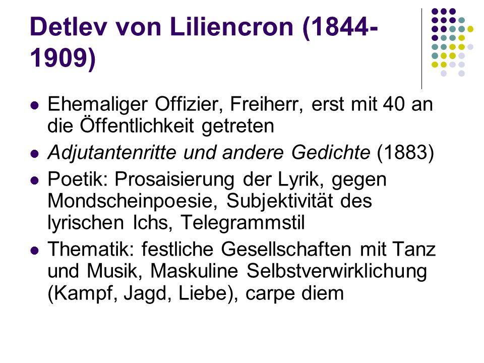 Detlev von Liliencron (1844-1909)