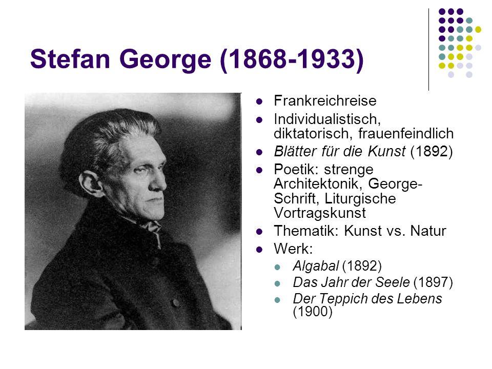 Stefan George (1868-1933) Frankreichreise