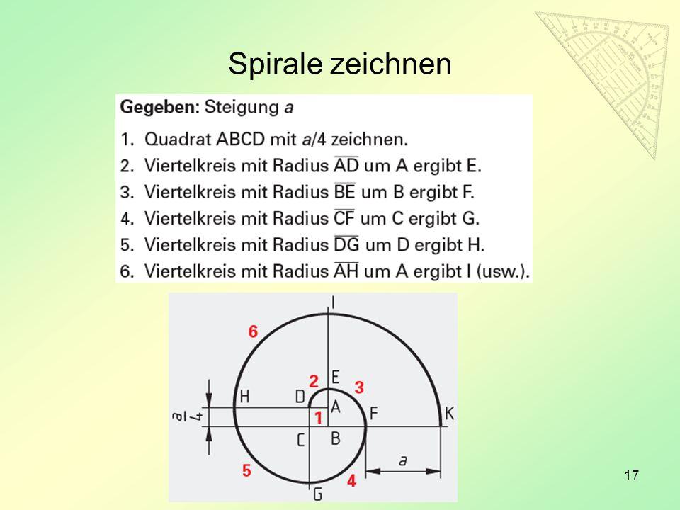 Spirale zeichnen