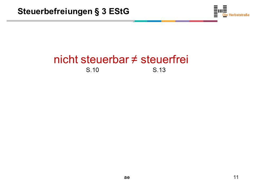 Steuerbefreiungen § 3 EStG