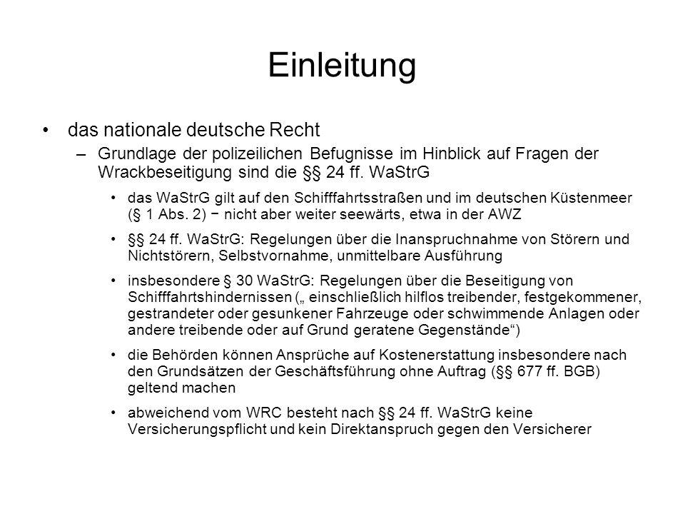 Einleitung das nationale deutsche Recht