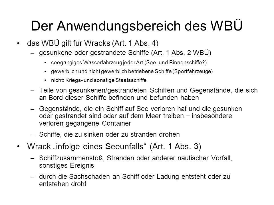 Der Anwendungsbereich des WBÜ
