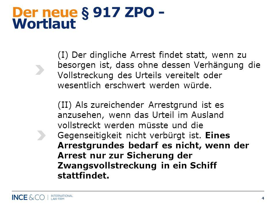 Der neue § 917 ZPO - Wortlaut