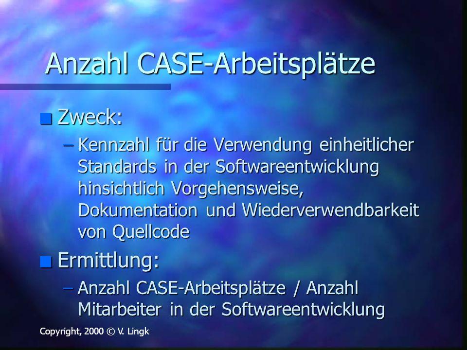 Anzahl CASE-Arbeitsplätze