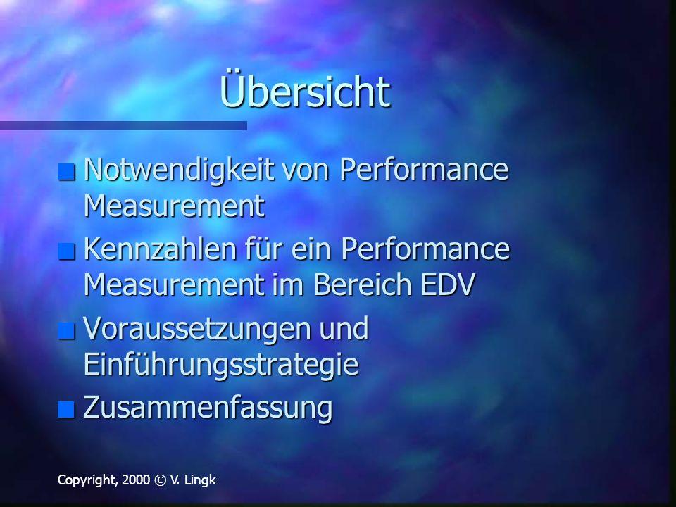 Übersicht Notwendigkeit von Performance Measurement