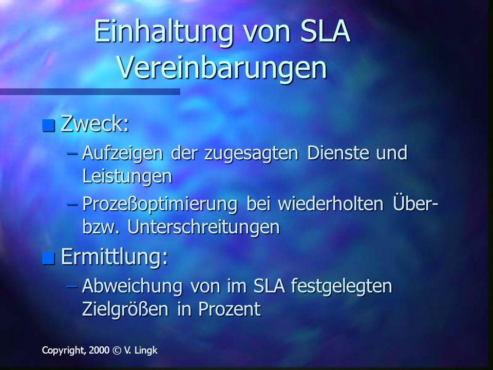 Einhaltung von SLA Vereinbarungen