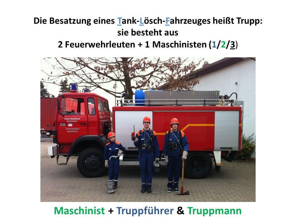 Maschinist + Truppführer & Truppmann