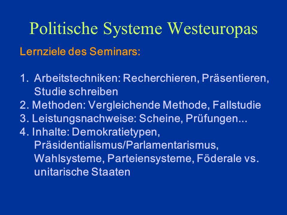 Politische Systeme Westeuropas