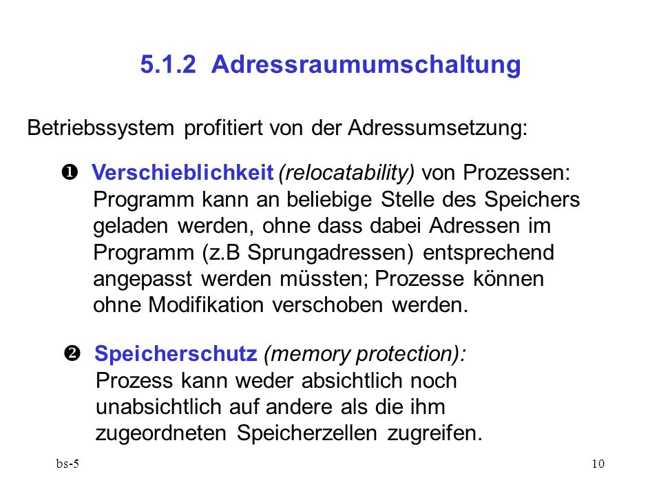 5.1.2 Adressraumumschaltung