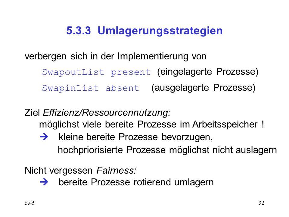 5.3.3 Umlagerungsstrategien