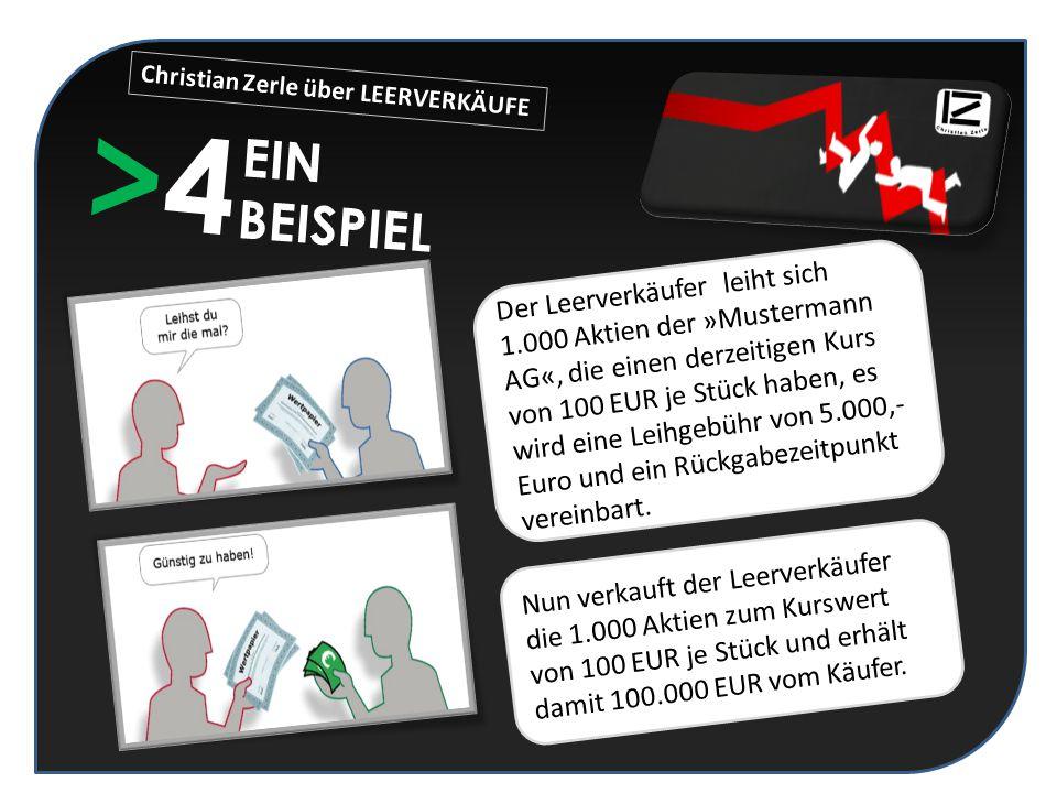 Christian Zerle über LEERVERKÄUFE