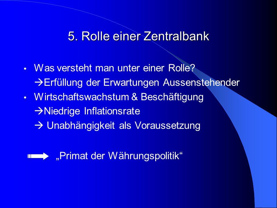 5. Rolle einer Zentralbank