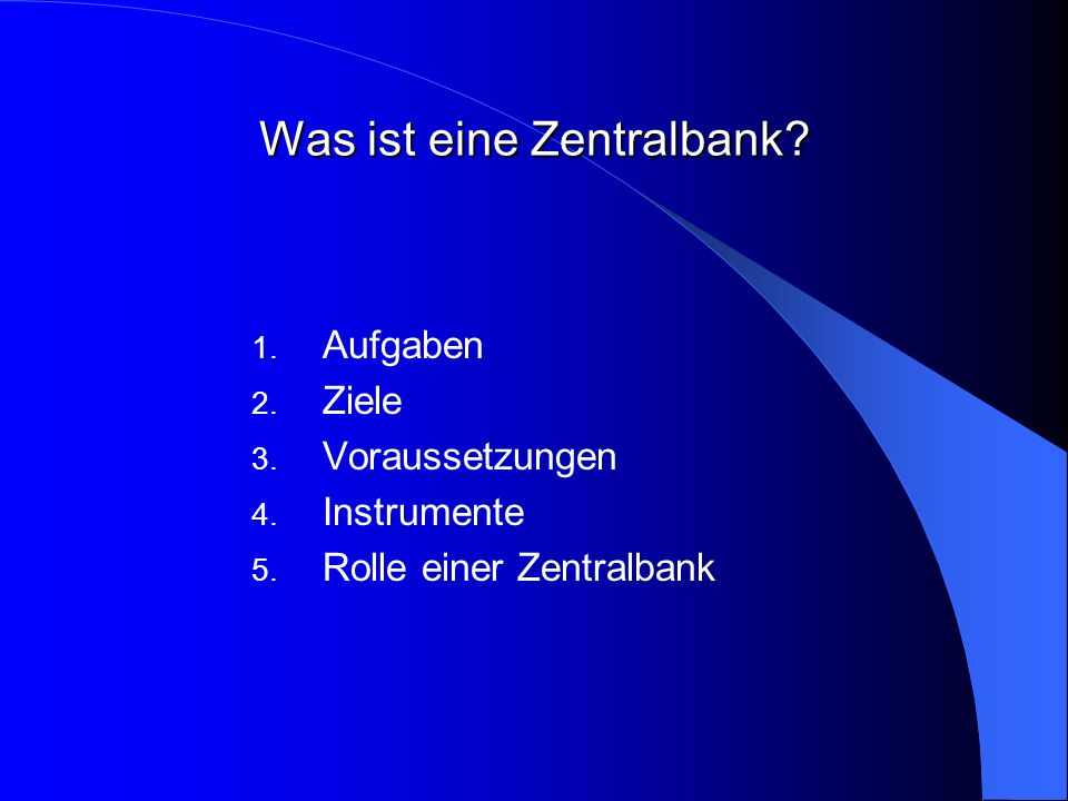 Was ist eine Zentralbank