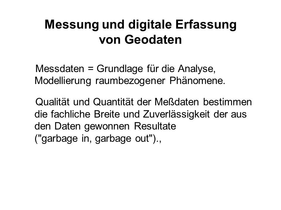 Messung und digitale Erfassung von Geodaten