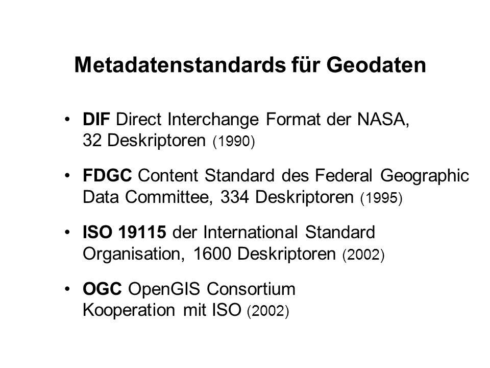 Metadatenstandards für Geodaten