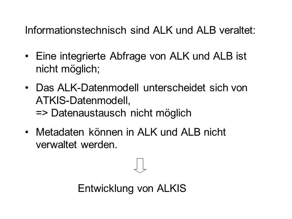 Informationstechnisch sind ALK und ALB veraltet:
