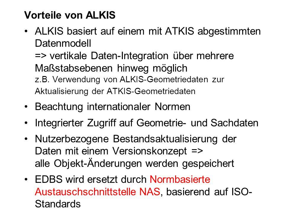 Vorteile von ALKIS