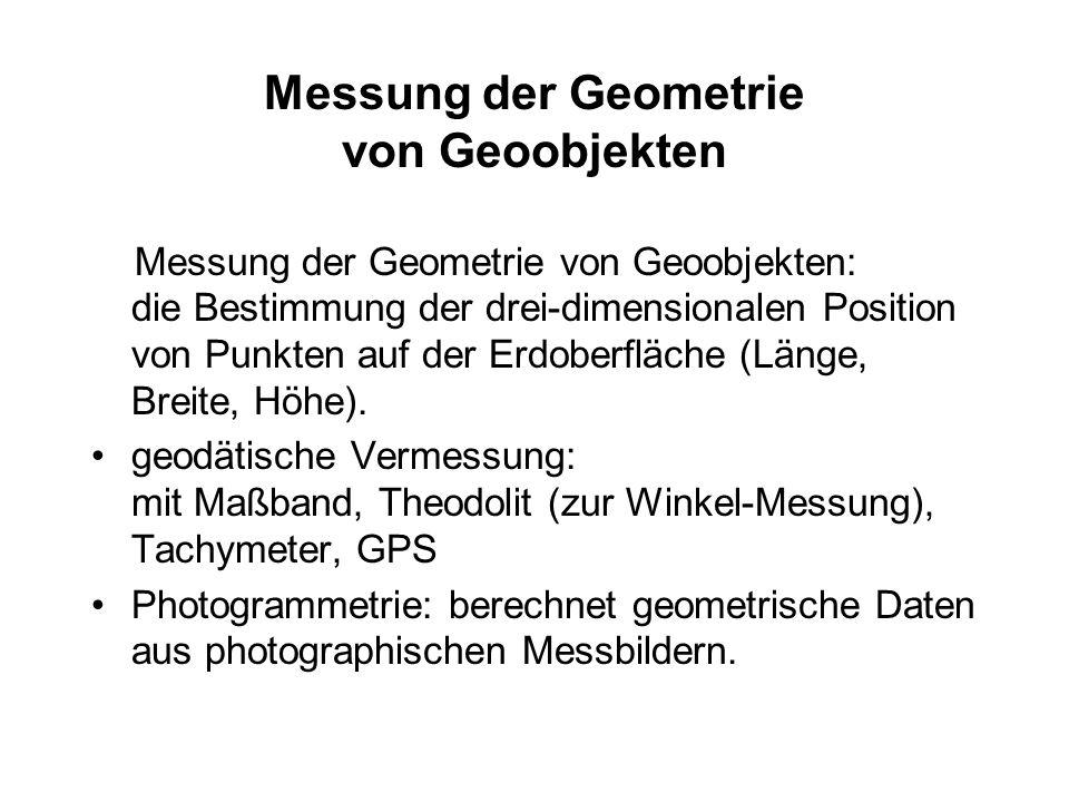 Messung der Geometrie von Geoobjekten