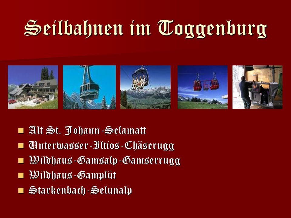 Seilbahnen im Toggenburg