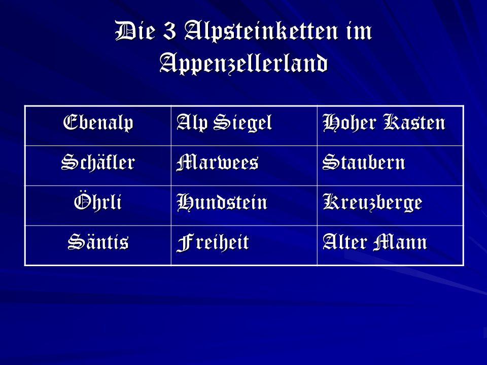 Die 3 Alpsteinketten im Appenzellerland