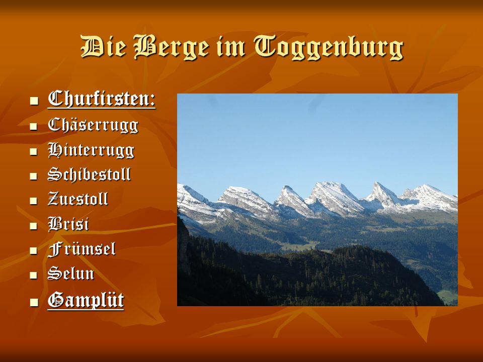 Die Berge im Toggenburg